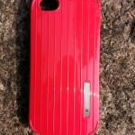 เคสไอโฟนSEเคสไอโฟน5S/5 เคสแบบฝาหลังสีสัดสดใส สีแดง