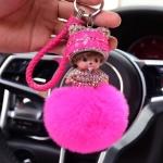 พวงกุญแจ พวงกุญแจคริสตัล พวงกุญแจตุ๊กตาน่ารักไฮโซ