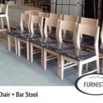 เก้าอี้ไม้ สไตล์ญี่ปุ่น สำหรับร้านอาหารญี่ปุ่น (TB-COLLECTION)