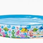 ( ขนาด 5 ฟุต ) สระน้ำขอบตั้งลายปลา Jilong Sea World Rigid Pool ขนาด 150x25 cm สระน้ำขอบตั้ง