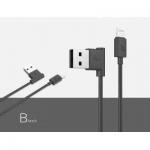 สายชาร์จสำหรับไอโฟน ยีห้อ Hoco Cable Quick Charge&Data 120cm. สีดำ