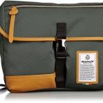 Bianchi - LBTC-03 : A4 Messenger Khaki (สีเขียว/ ขอบหนังสีน้ำตาล)