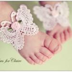 Baby foot band ลายผีเสื้อ