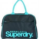 Superdry - Tennis Bag สีน้ำเงิน โลโก้เขียว US9GC048-11S