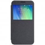 เคสฝาพับ Samsung E7 วัสดุเกรดพรีเมี่ยม รุ่น Sparkle Leather Case (สีดำ)