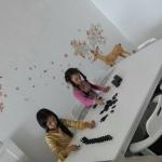 ชุดโต๊ะญี่ปุ่น 90x150xh40 ซม.พร้อมเก้าอี้สไตล์ญี่ปุ่น 6 ที่นั่ง สีขาว (CHO-W6)
