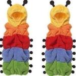 ถุงนอนตัวหนอนหลากสีแฟนซี ผ้าหนานุ่ม ใส่นอนให้เด็ก ด้านข้างสามารถสอดแขนออกมาได้