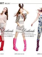 รองเท้าบูท LOSTLANDS รองเท้าบูทกันน้ำแฟชั่น สำหรับหน้าฝน ลายลูกกวาด สีสันสดใส สูง 38.50 ซม. (ตัวแทน 1,000บาท)