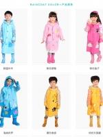 ชุดกันฝน เสื้อกันฝนสำหรับเด็กลายการ์ตูน ความสูง 90-145ซม.ด้านหลังมีช่องสำหรับใส่กระเป๋าค่ะ