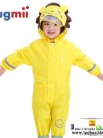 ชุดกันฝน เสื้อกันฝนสำหรับเด็ก ยี่ห้อ hugmii ชุดหมีซิปหน้า ความสูง 80-130ซม. มี 3 สีคือ เหลือง เขียว และชมพูค่ะ