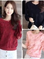 เสื้อยืดสไตล์เกาหลี ผ้าลายในตัวเก๋ๆ เนื้อผ้าดีสวมใส่สะบาย งานนำเข้าแท็คุณภาพดี