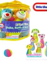 โบว์ลิ่งผ้า little tikes 1ชุด ประกอบด้วย ลูกบอล 2 ลูก ตัวสัตว์ 6 ตัว(สูง17 cm)