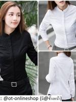 เสื้อสไตล์เกาหลี แต่งดีเทลปักแต่งด้านหน้าเก๋ๆ เนื้อผ้าดีสวมใส่สะบาย งานนำเข้าแบรนด์แท้คุณภาพดี