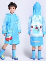 ชุดกันฝน เสื้อกันฝนสำหรับเด็ก หมวกเป่าให้พองได้ ด้านหลังใส่เป้ได้ ความสูง 110-160ซม. มี 5 แบบค่ะ