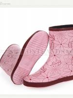 รองเท้าบูท LOSTLANDS รองเท้าบูทกันน้ำแฟชั่น สำหรับหน้าฝน ลายเส้น ดอกไม้ (ตัวแทน 750บาท)
