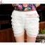LG084 กางเกงขาซับในขาสั้น มี 2 สี ขาว ดำ เอวยางยืด มีผ้าระบายลูกไม้เป็นชั้นๆทั้งตัว สวยหวานคะ thumbnail 11