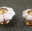 มือจับ ปุ่มแขวน เซรามิค/ทองเหลือง ลายดอกไม้สีขาว มี 2 ขนาด 3.5-4.5 ซม. thumbnail 5