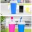 Pre-Order แก้วทำเสลอปี้ น้ำแข็งเกร็ดหิมะ ไอศกรีม แบบง่ายๆ ไม่ต้องใช้น้ำแข็ง ไม่ต้องปั่น เพียงแค่บีบๆ ก็ได้กินเสลอปี้รสที่ชอบแล้ว มี 4 สี thumbnail 2