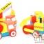 ของเล่นไม้ โมเดลรถของเล่น ชุดรถก่อสร้าง 4 คัน thumbnail 2