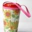 แก้วเก็บความเย็น สะดวกสบายด้วยหูหิ้ว ลาย Hello Kitty ดอกทานตะวัน บนพื้นขาว เก็บความเย็นได้กว่า 5 ชั่วโมง thumbnail 2