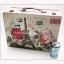 กล่องเก็บของ ทรงกระเป๋าเดินทาง แบบวินเทจ ลาย ปารีเซียนสุดหวาน ขนาดใหญ่ L thumbnail 1
