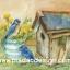 กระดาษอาร์ตาพิมพ์ลาย สำหรับทำงาน เดคูพาจ Decoupage แนวภาำพ นกน้อยสีฟ้า 2 ตัว นั่งคุยกันอยู่บนบัวรดน้ำสังกะสีปลูกดอกไม้ หน้าบ้านนก สีสวยหวาน (ปลาดาวดีไซน์) thumbnail 1