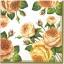 แนวภาพดอกไม้ เป็นช่อดอกกุหลาบ บนพื้นขาว เป็นภาพกระจายเต็มแผ่น กระดาษแนพกิ้นสำหรับทำงาน เดคูพาจ Decoupage Paper Napkins ขนาด 33X33cm thumbnail 1