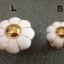 มือจับ ปุ่มแขวน เซรามิค/ทองเหลือง ลายดอกไม้สีขาว มี 2 ขนาด 3.5-4.5 ซม. thumbnail 4