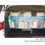 GB183 กระเป๋าผ้าจัดระเบียบ แขวนใส่ของในรถยนต์ SUV มีช่องใส่ของมากมาย คล้องติดกับเบาะหลังรถ ขนาดกว้าง 110 x สูง 34 cm. thumbnail 1