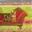 แนวภาพสัตว์ น้องแมวใส่มงกุฎ นั่งบนโซฟา ภาพโทนสีเขียวแดง เป็นภาพ 4 บล๊อค กระดาษแนพกิ้นสำหรับทำงาน เดคูพาจ Decoupage Paper Napkins ขนาด 33X33cm thumbnail 1