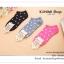 GS002 ถุงเท้าแฟชั่น ถุงเท้าสั้น ลายน่ารัก ะ ขนาดก่อนใส่ ยาว 18 cm . ( Free size) thumbnail 3