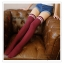 WL023 ถุงเท้ายาว ครึ่งน่องบน มี 3 สี สีครีม สีดำ สีแดงเลือดหมู thumbnail 2