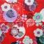 แนวภาพดอกไม้ ลายเส้นดอกไม้หลากชนิด ภาพโทนสีแดง เป็นภาพกระจายเต็มแผ่น กระดาษแนพกิ้นสำหรับทำงาน เดคูพาจ Decoupage Paper Napkins ขนาด 33X33cm thumbnail 2