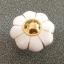มือจับ ปุ่มแขวน เซรามิค/ทองเหลือง ลายดอกไม้สีขาว มี 2 ขนาด 3.5-4.5 ซม. thumbnail 2