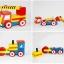 ของเล่นไม้ โมเดลรถของเล่น ชุดรถก่อสร้าง 4 คัน thumbnail 5