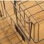 Pre-Order ตะกร้าเหล็ก แร็ควางของ วางซ้อนกันได้ มีป้ายไม้ มีสีดำ กับครีม thumbnail 16