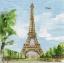 แนวภาพ Landmark ปารีส ฝรั่งเศส กระดาษแนพกิ้นสำหรับทำงาน เดคูพาจ Decoupage Paper Napkins เป็นภาพสไตย์ภาพวาดสีน้ำ ขนาด 33X33cm thumbnail 1