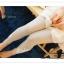 LG007 กางเกงเลคกิ้งขายาว ประดับด้วยผ้าลูกไม้ มี 3 สี สีขาว สีเทาอ่อน สีดำ thumbnail 19