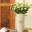 Pre-Order ถังใส่ดอกไม้ เหล็กเคลือบสี ทรงสูง มีหู ลาย Original Sweet Flowers 2 ใบเซต มี 6 สี thumbnail 11
