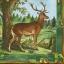 แนวภาพสัตว์ น้องกวางยืนใต้ต้นไม้ในทุ่งกว้าง ภาพโทนสีฟ้า เป็นภาพเต็มแผ่น กระดาษแนพกิ้นสำหรับทำงาน เดคูพาจ Decoupage Paper Napkins ขนาด 33X33cm thumbnail 1