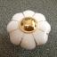 มือจับ ปุ่มแขวน เซรามิค/ทองเหลือง ลายดอกไม้สีขาว มี 2 ขนาด 3.5-4.5 ซม. thumbnail 6