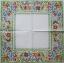 แนวภาพ กรอบดอกไม้หลากสี ภาพโทนสีสดใส เป็นภาพเต็มแผ่น กระดาษแนพกิ้นสำหรับทำงาน เดคูพาจ Decoupage Paper Napkins ขนาด 33X33cm thumbnail 2