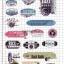 STGP005 สติกเกอร์ Sticker กระดาษเคลือบกันน้ำ ลายการ์ตูน กราฟฟิก วินเทจ สวย เท่ห์ ติดกระเป๋า ของใช้ ตู้ ผนัง ตกแต่งสิ่งของ thumbnail 2