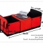 GB091 กระเป๋ากล่องใส่ของในรถยนต์ มี 3 สี น้ำเงิน แดง ดำ พับเก็บได้ มีที่เก็บของร้อน-เย็น ขนาด 60 x 28 x 31 ซม. thumbnail 2