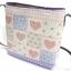กระเป๋าสะพายกระจูดทรงเหลี่ยมสูง ลายหัวใจ Patchwork ชมพูหวาน thumbnail 2