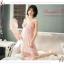 SP075 ชุดนอนกระโปรงยาว ประดับด้วยผ้าลูกไม้ สวยหวาน มี 2 สี สีขาว สีชมพู thumbnail 8
