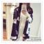 PR062 ผ้าพันคอแฟชั่น ผ้าขนสัตว์เทียม ผ้าหนา อย่างดี พิมพ์ลายสวย หรู งานสวยคะ ขนาด กว้าง 65 ยาว 195 cm. thumbnail 4