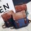 กระเป๋าเป้สะพาย หนัง ผสมผ้า Macarons thumbnail 1