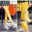 LG005 กางเกงเลคกิ้งขายาว ผ้าหนา มีแถบสีขาวด้านข้าง 2 เส้น มีให้เลือก 5 สี เหลือง ฟ้าอ่อน เทาอ่อน ฟ้าเข้ม ดำ thumbnail 20