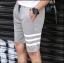 กางเกงขาสั้นแฟชั่นเกาหลี ลายทาง : สีเทา thumbnail 4
